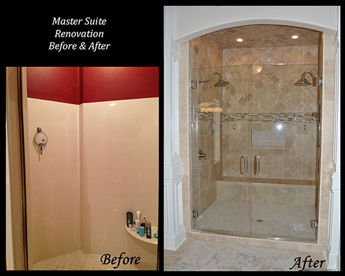 Alex Custom Homes - Master Suite Renovation, Before and After